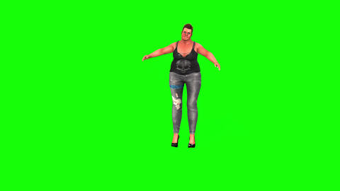 486 4K 3d animated fat actress greeting people from stage Animation
