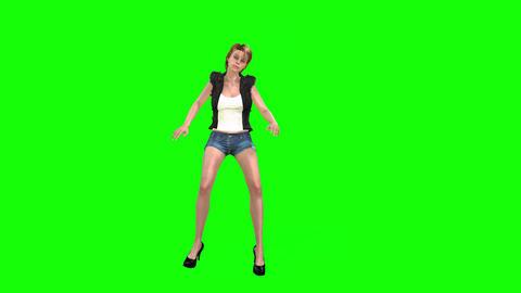489 4k 3d animated in short girl dance Animation
