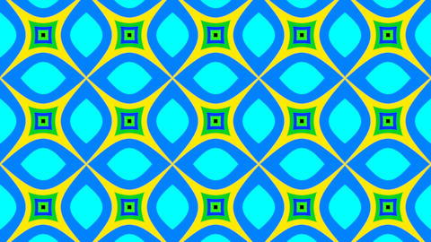 Psychedelic Colorful Flickering Background Retro Style in Seamless Loop ライブ動画