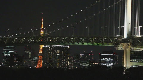 Rainbow Bridge and Tokyo tower Live Action