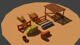 Low Poly Farm Miscellaneous 3D Model