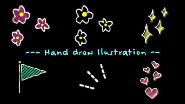 Hand drawn animation Motion Graphics Template