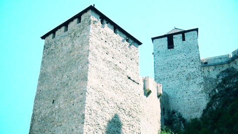 Two towers of the castle from the Middle Ages GIF