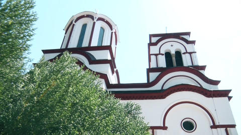 Towers of the Orthodox Monastery from the Middle Ages GIF