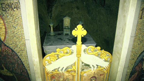 Church altar in an old Orthodox monastery GIF