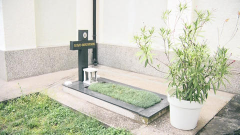 Holy Orthodox grave next to the church GIF