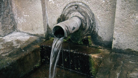 Drinking water flows from the pipes GIF