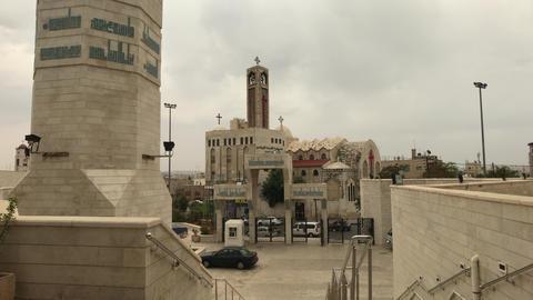 Amman, Jordan - beautiful walls of history King Abdullah Mosque Live Action