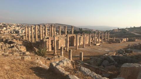 Jerash, Jordan - ruins of an ancient city part 10 ライブ動画