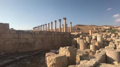 Jerash, Jordan - ancient buildings of ancient civilization part 13 Live Action