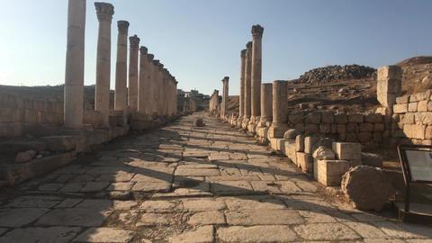 Jerash, Jordan - ancient buildings of ancient civilization part 12 Live Action