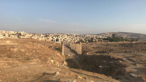 Jerash, Jordan - ruins of an ancient city part 7 Live Action