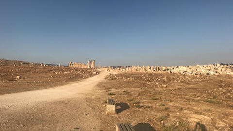 Jerash, Jordan - ruins of an ancient city part 8 Live Action