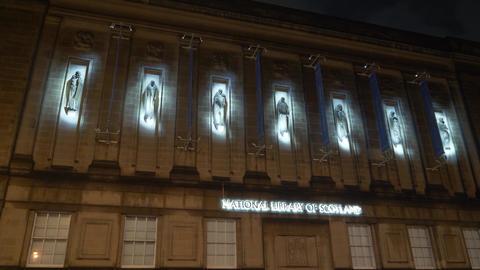 National Library of Scotland in Edinburgh - EDINBURGH, SCOTLAND - JANUARY 10 Live Action