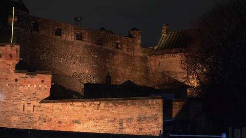 Edinburgh Castle - beautiful night view Stock Video Footage