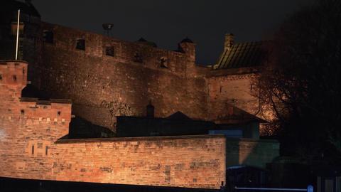 Edinburgh Castle - beautiful night view Live Action