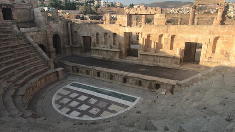 Jerash, Jordan - ancient buildings of ancient civilization Live Action