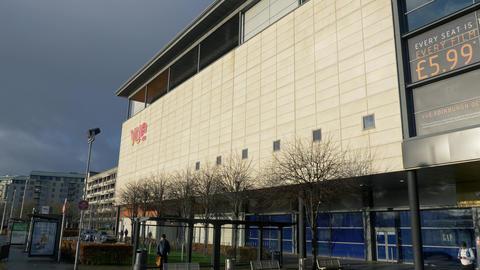 Vue cinemas at Ocean Terminal Edinburgh - EDINBURGH, SCOTLAND - JANUARY 10, 2020 Live Action