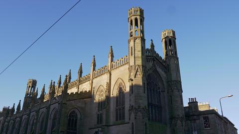 St Marys Catholic cathedral in Edinburgh Live Action