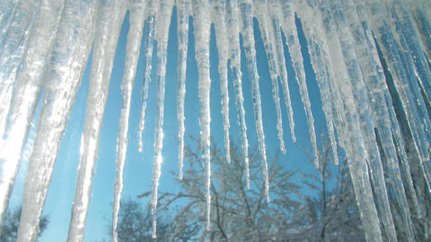 Icicles hanging on the roof Live Action