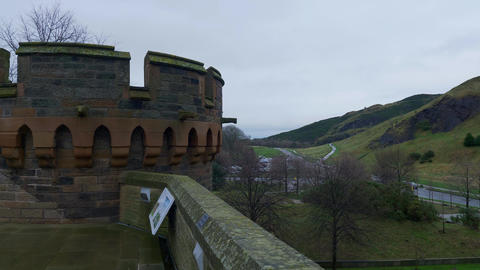 Holyrood Park in the historic district of Edinburgh -… Stock Video Footage