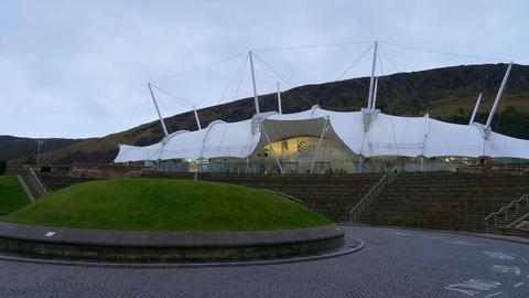 Famous Dynamic Earth Exhibition in Edinburgh - EDINBURGH, SCOTLAND - JANUARY 10 Live Action
