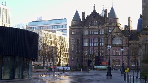 University of Edinburgh - Library - EDINBURGH, SCOTLAND - JANUARY 10, 2020 Live Action