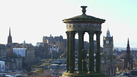 Panoramic view over Edinburgh from Calton Hill Live Action