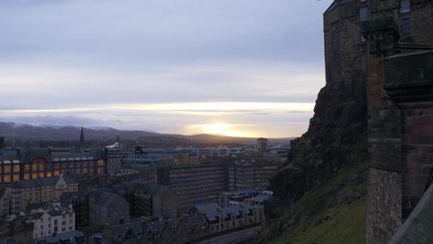 Cityscapes of Edinburgh Scotland in the evening - EDINBURGH, SCOTLAND - JANUARY Live Action