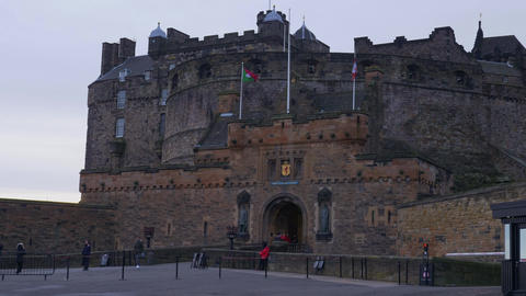 Edinburgh Castle on Castlehill in the historic district of Edinburgh - EDINBURGH Live Action