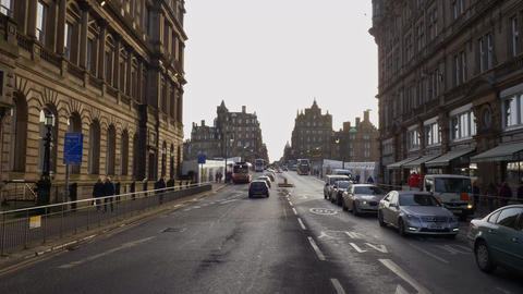 Street view Princes Street Edinburgh - EDINBURGH, SCOTLAND - JANUARY 10, 2020 Live Action