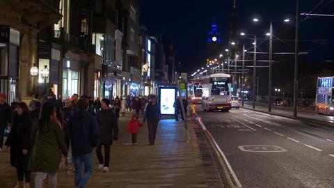 Cityscapes of Edinburgh Scotland - EDINBURGH, SCOTLAND - JANUARY 10, 2020 Live Action