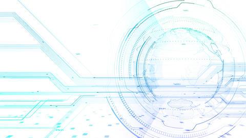 AI digital data network computer technology 3D illustration background 5 12 white Animation