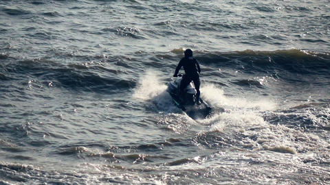 Jet ski racing in the sea Live Action