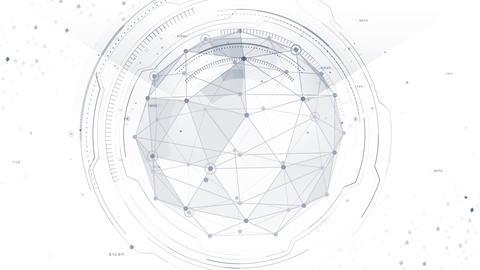 AI digital data network computer technology 3D illustration background 5 19 white Animation