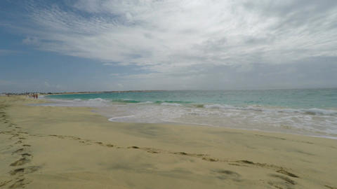 amazing exotic tropical beach on sal asland in cape verde Stock Video Footage