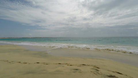 amazing exotic tropical beach on sal asland in cape verde Footage