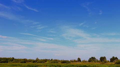 Beautiful blue sky over the meadow 2 영상물