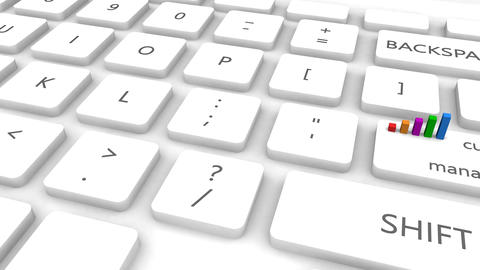 Customer Service Management With One Keyboard Button Click Animation