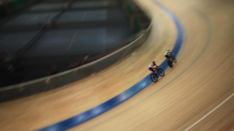 Cycle race on the track motion blur Footage