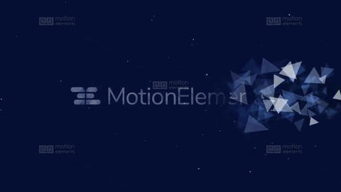 Triangle Particles Logo Reveal After Effects Template