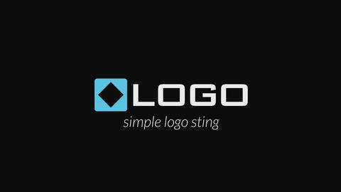 Simple Dark Business Logo Sting - Minimal Logo & Text Blur Fade Intro Animation After Effects Template