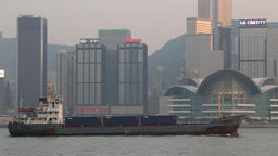 Container ship Hong Kong Footage