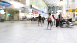 People walking in city night background Footage