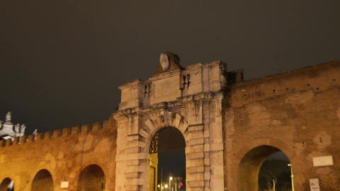 Porta San Giovanni. Zoom. Rome, Italy Footage