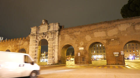 Porta San Giovanni. Panorama. Rome, Italy Footage