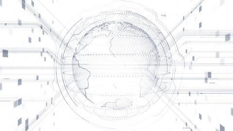 AI digital data network computer technology 3D illustration background 5 20 white Animation