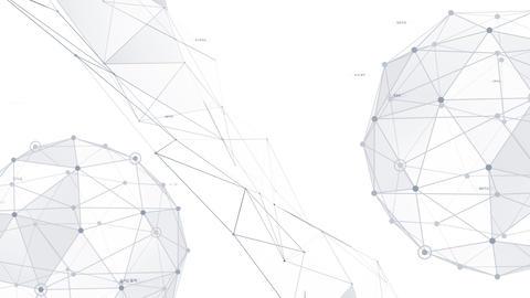 AI digital data network computer technology 3D illustration background 5 22 white Animation