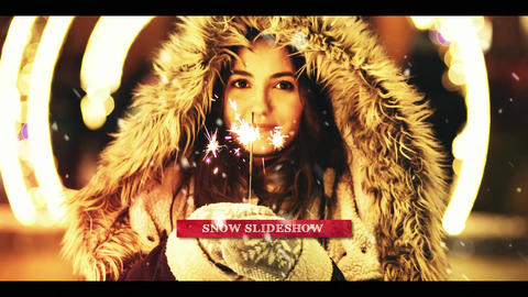 Snow Slideshow After Effects Template
