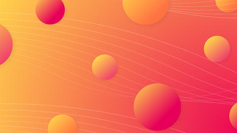 Background from abstract orange balls CG動画